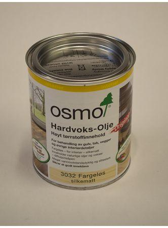 Osmo   Hardvoksolje Fargeløs Silkematt 3032 (0,75L)