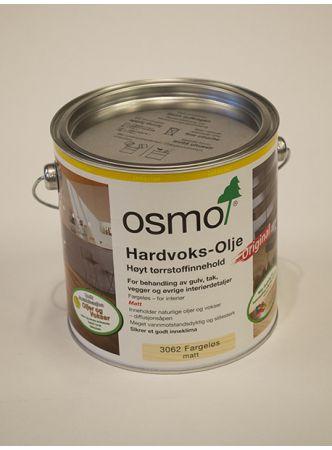 Osmo   Hardvoksolje Fargeløs Matt 3062 (2,5L)